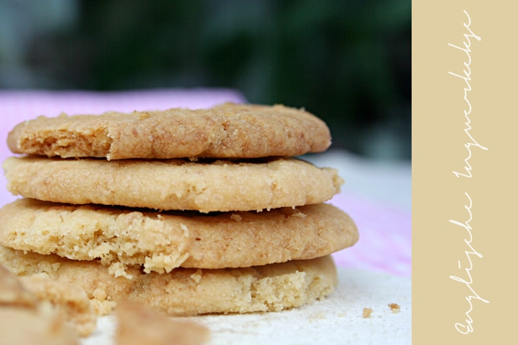 Vegane englische Ingwer-Kekse mit frischem Ingwer