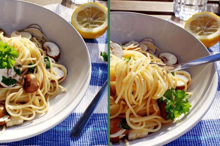 Schnell und einfach: Spaghetti mit Zitronen und Champignons || Kochkarussell
