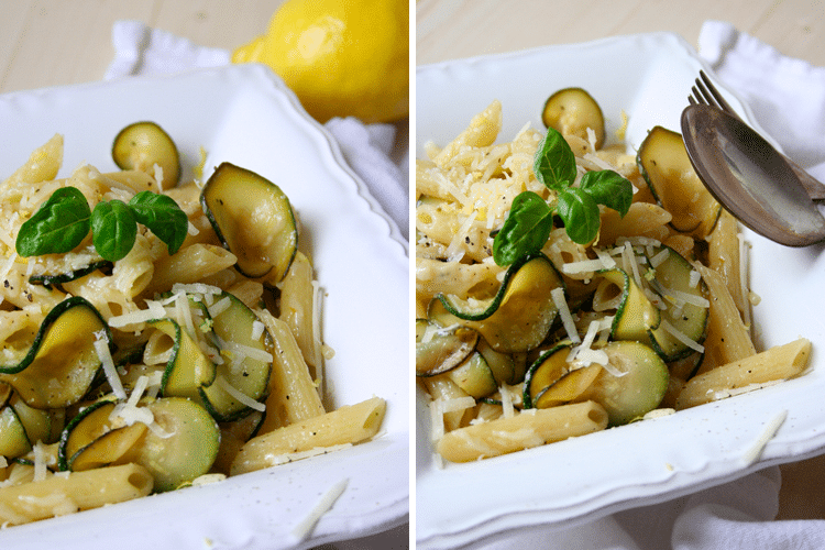 Penne-mit-Zucchini-und-Zitrone - Kochkarussell.com