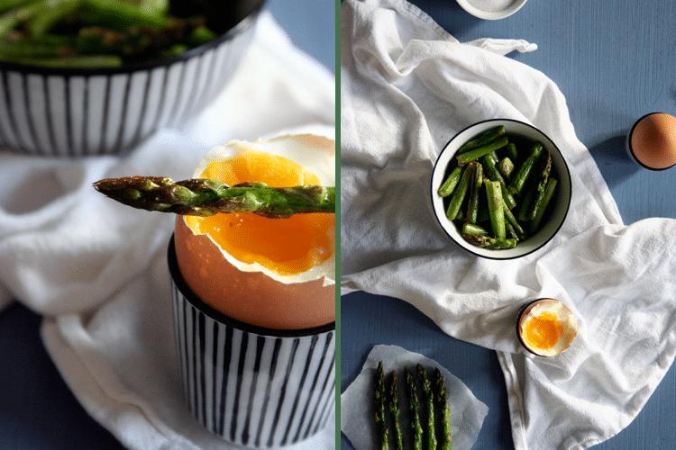 Grüner Spargel mit wachsweichen Eiern || Kochkarussell
