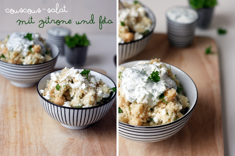 Kochkarussell: Couscous-Salat mit Zitrone und Feta