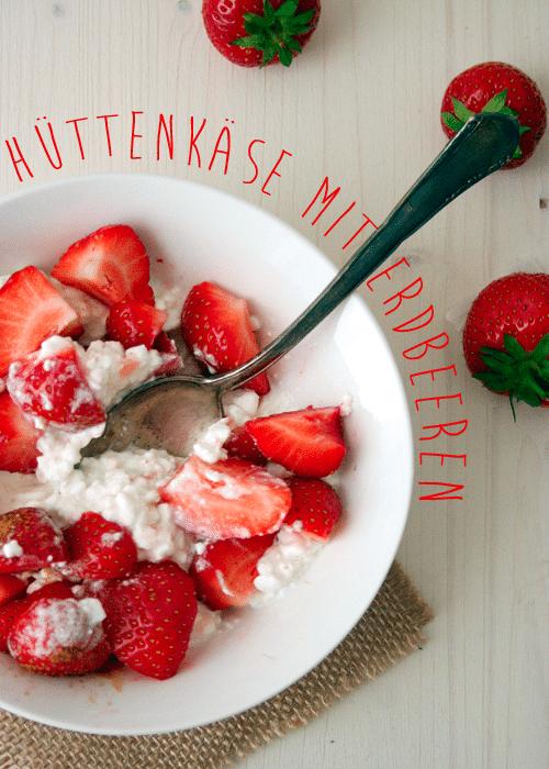 Kochkarussell: Hüttenkäse mit Erdbeeren und Zimt