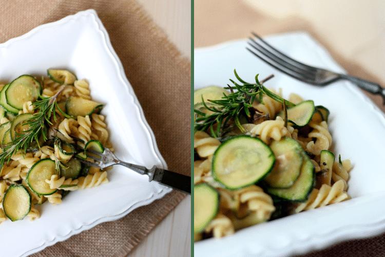 Pasta mit Zucchini und Ziegenkäse - Kochkarussell.com