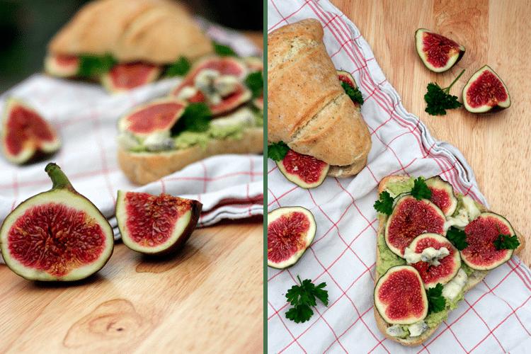 Kochkarussell: Feigen-Gorgonzola-Baguette mit Avocado