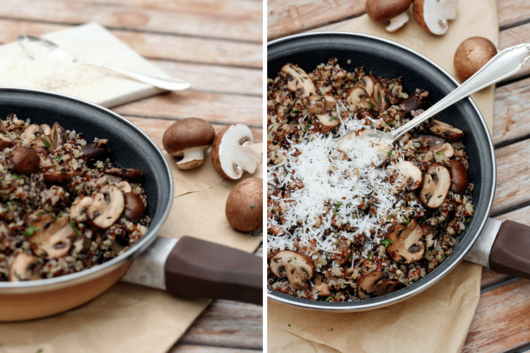 Pilz-Quinoa mit Knoblauch und Thymian - Kochkarussell.com
