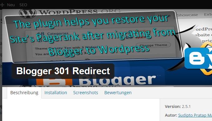 Anleitung Umzug von Blogger zu WordPress in 6 einfachen Schritten Blogger 301 Redirect - Kochkarussell.com