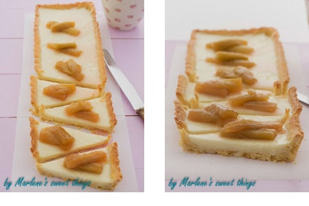 Rhabarber Panna Cotta Tarte von Marlenes Sweet Things