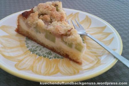 Rhabarberkuchen von Kuchenduft und Backgenuss