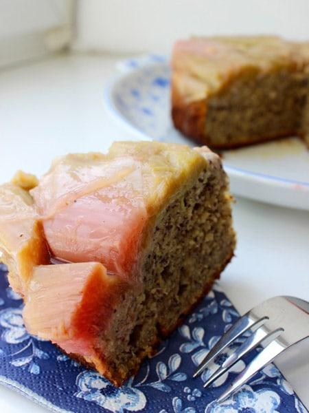 Umgedrehter Rhabarberkuchen von Elfilii
