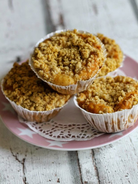 Vegane Rhabarber Marzipan Muffins