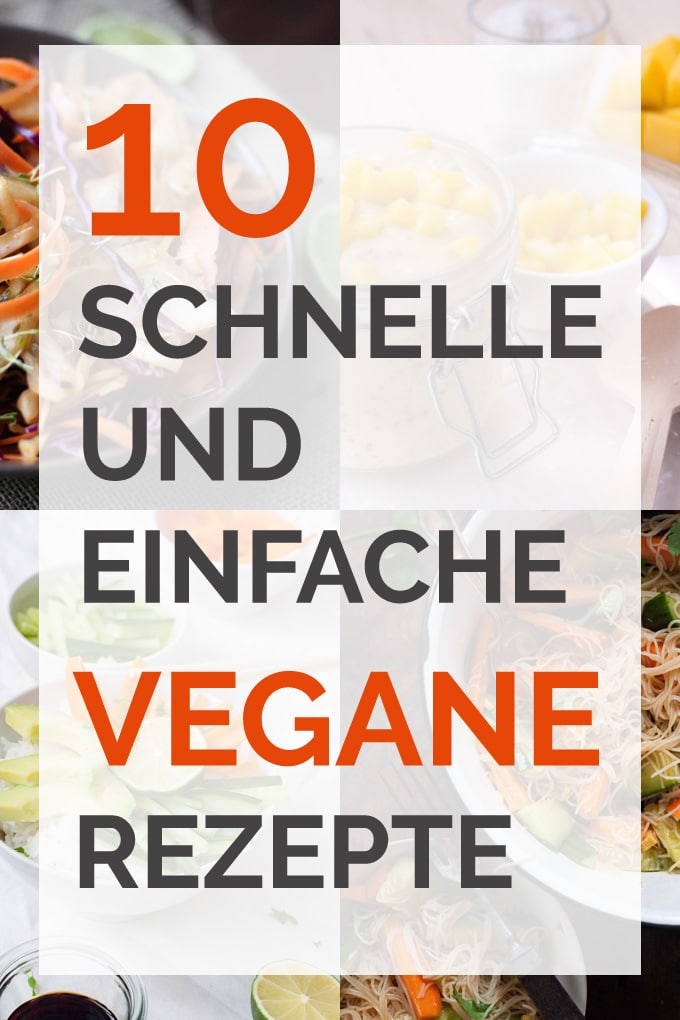 10 schnelle und einfache vegane Rezepte - Kochkarussell