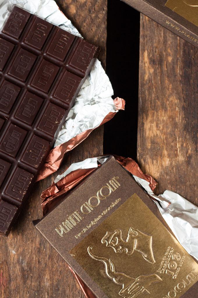 Werbung. Schokolade von Planète Chocolate - kochkarussell.com
