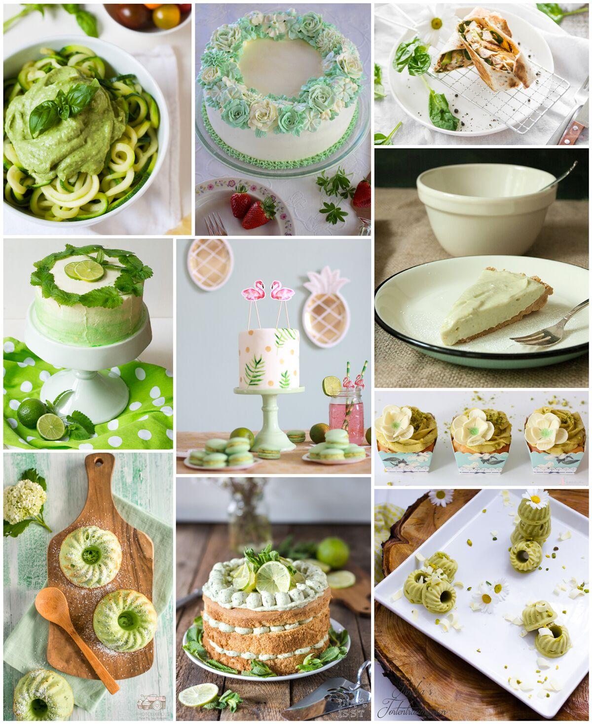 Bilder der Teilnehmer-Rezepte des Frühlings Blog Hop