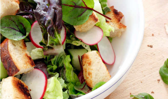 Brezensalat mit Honig Senf Dressing - Kochkarussell.com