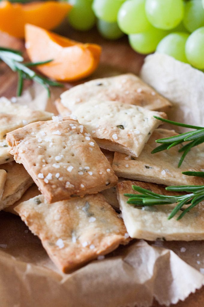 Rosemary Sea Salt Cracker - Kochkarussell.com