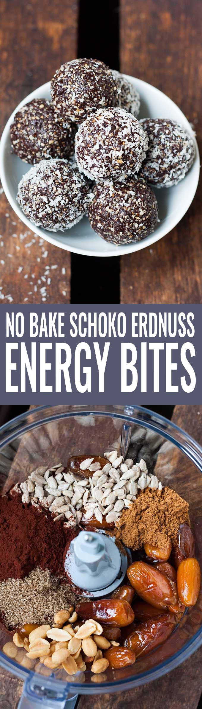 No Bake Schoko Erdnuss Energy Bites