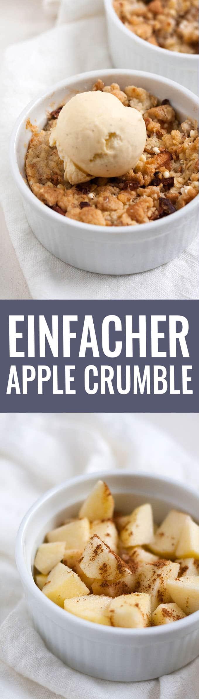 Einfacher Apple Crumble - Kochkarussell.com