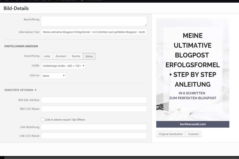 Meine ultimative Blogpost-Erfolgsformel - in 6 Schritten zum perfekten Blogpost. Diese einfache Schritt für Schritt-Anleitung ist perfekt für Blogger und Online-Unternehmer! - Kochkarussell.com #bloggen #blogpostschreiben #howto