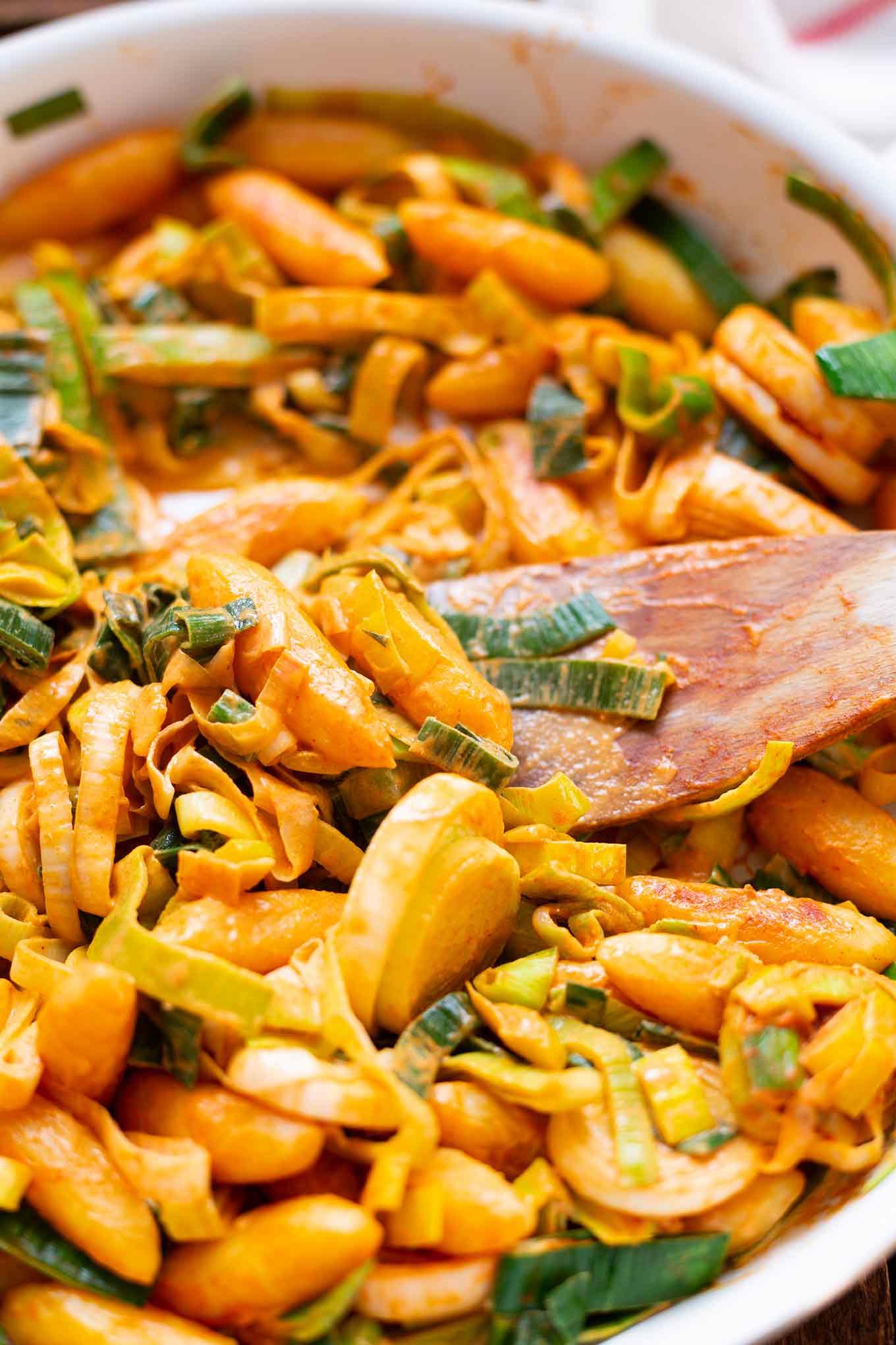 Lauch-Schupfnudel-Pfanne - Kochkarussell Foodblog
