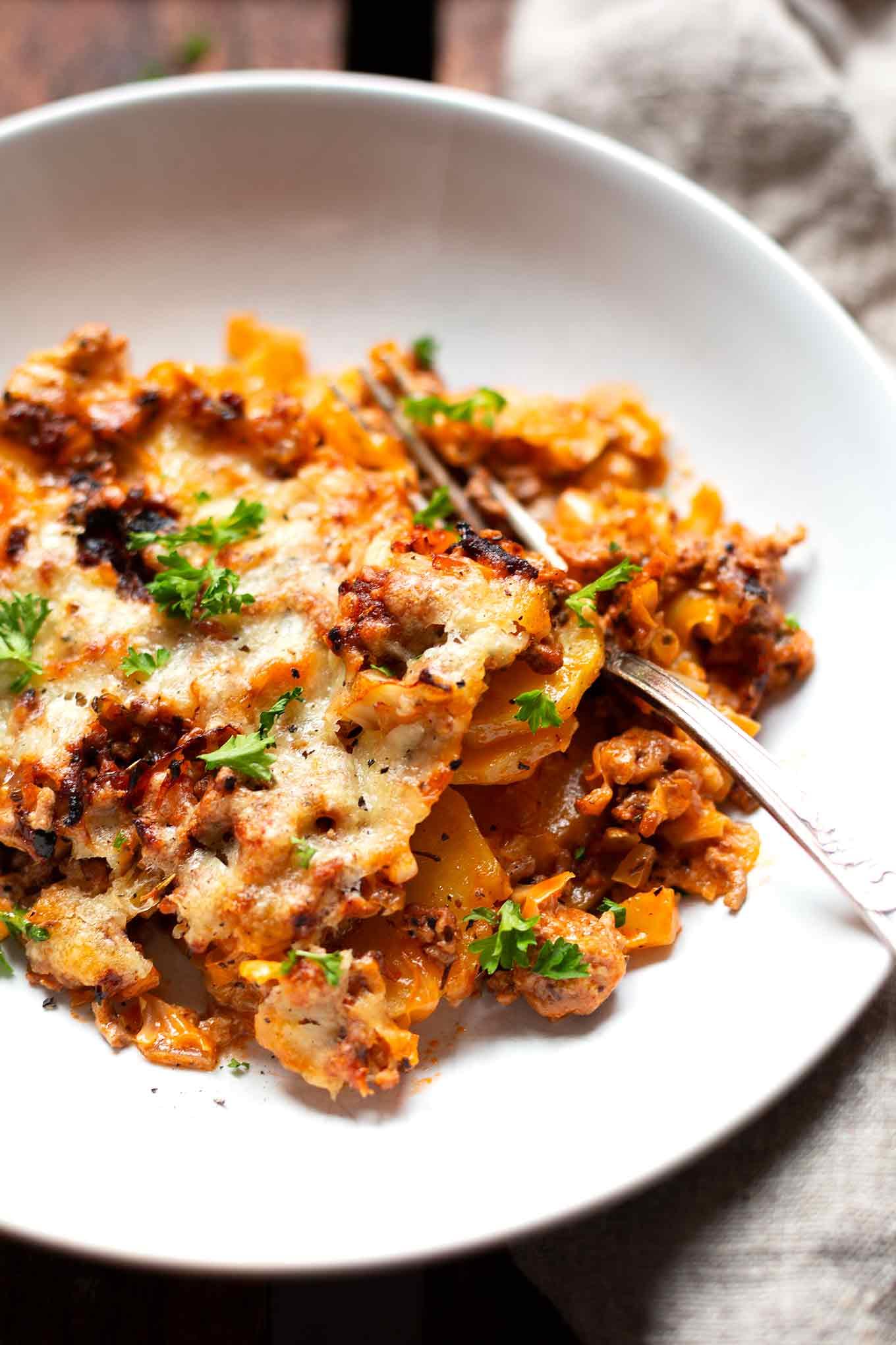 Spitzkohl-Hackfleisch-Auflauf mit Kartoffeln- Kochkarussell Foodblog