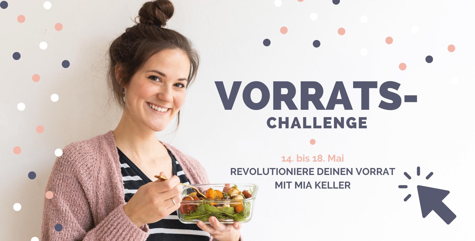 Vorrats-Challenge Anmeldung Kochkarussell
