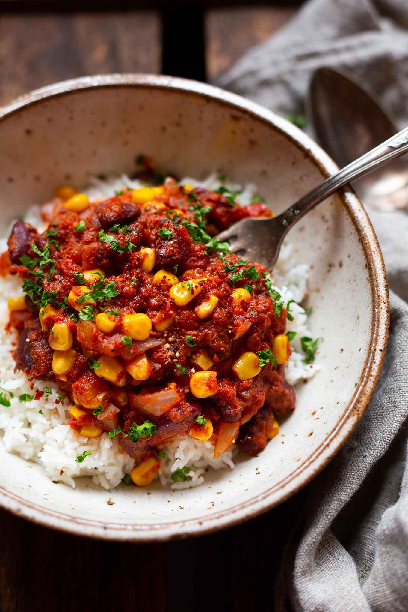 Rezept Vegetarisches Chili con Carne