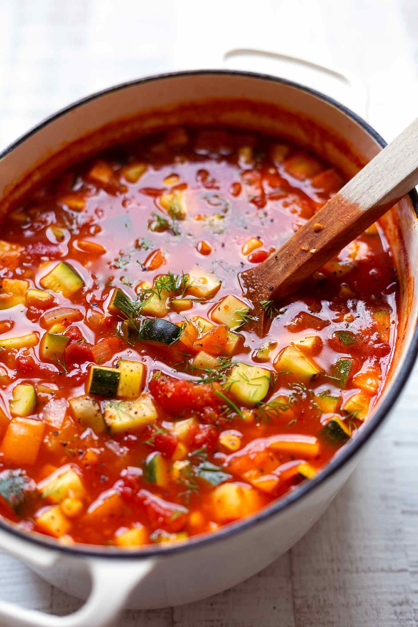 Rezept:  vegetarische Gemüsesuppe