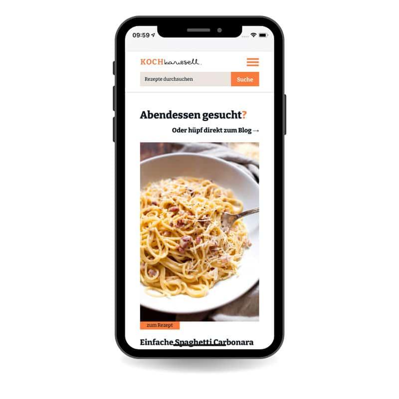 Kooperation auf der Kochkarussell Website