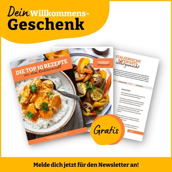 Kochkarussell Newsletter mit Willkommensgeschenk