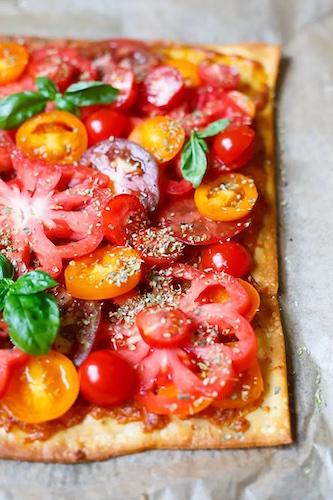 Rezept:  Blätterteig-Tarte mit Tomaten und Mozzarella
